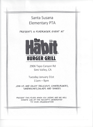 January PTA Dine Out Night